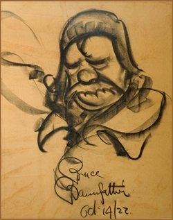 Charcoal drawing dated Oct 14th 1922.